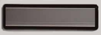 Mail slot with a plastic frame silver